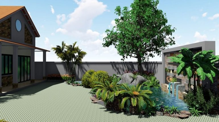 trồng cây lấy bóng mát trước nhà