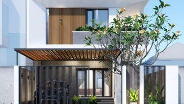 trồng cây trước cổng nhà